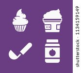 filled food icon set such as... | Shutterstock .eps vector #1134159149