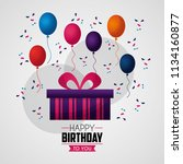 happy birthday card | Shutterstock .eps vector #1134160877