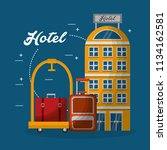 hotel building hotel luggage... | Shutterstock .eps vector #1134162581