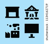filled buildings icon set such... | Shutterstock .eps vector #1134162719