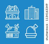 outline buildings icon set such ... | Shutterstock .eps vector #1134163349