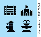 filled buildings icon set such... | Shutterstock .eps vector #1134163649
