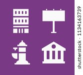 filled buildings icon set such... | Shutterstock .eps vector #1134163739