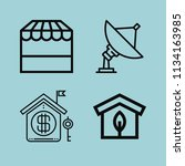 outline buildings icon set such ... | Shutterstock .eps vector #1134163985