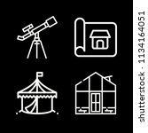 outline buildings icon set such ... | Shutterstock .eps vector #1134164051