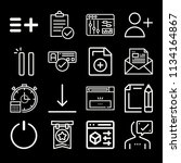 outline interface icon set such ...   Shutterstock .eps vector #1134164867