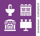 filled buildings icon set such... | Shutterstock .eps vector #1134165119
