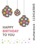 a decorated card with the... | Shutterstock .eps vector #1134165845