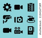 filled technology icon set such ... | Shutterstock .eps vector #1134167189