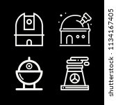 outline buildings icon set such ... | Shutterstock .eps vector #1134167405