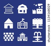 filled buildings icon set such... | Shutterstock .eps vector #1134168029