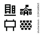 filled buildings icon set such... | Shutterstock .eps vector #1134168065