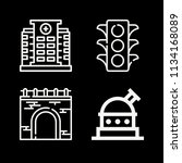 outline buildings icon set such ... | Shutterstock .eps vector #1134168089