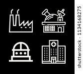 outline buildings icon set such ... | Shutterstock .eps vector #1134168275