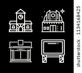 outline buildings icon set such ... | Shutterstock .eps vector #1134168425