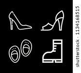 outline fashion icon set such... | Shutterstock .eps vector #1134168515