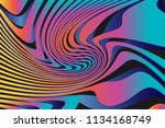 color trendy twisted lines... | Shutterstock .eps vector #1134168749