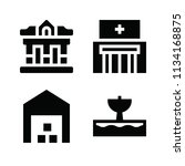 filled buildings icon set such... | Shutterstock .eps vector #1134168875
