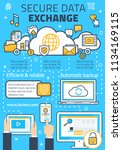 internet data secure exchange... | Shutterstock .eps vector #1134169115