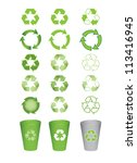 set of recycle icons vector... | Shutterstock .eps vector #113416945