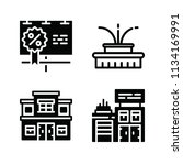 filled buildings icon set such... | Shutterstock .eps vector #1134169991