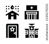 filled buildings icon set such... | Shutterstock .eps vector #1134170231