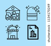 outline buildings icon set such ... | Shutterstock .eps vector #1134170249