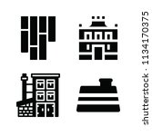 filled buildings icon set such... | Shutterstock .eps vector #1134170375