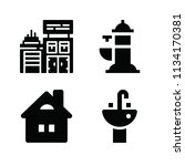 filled buildings icon set such... | Shutterstock .eps vector #1134170381