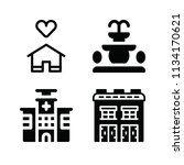 filled buildings icon set such... | Shutterstock .eps vector #1134170621