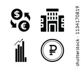 filled business icon set such... | Shutterstock .eps vector #1134170819