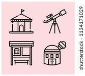 outline buildings icon set such ... | Shutterstock .eps vector #1134171029