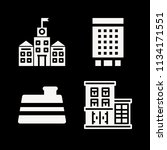 filled buildings icon set such... | Shutterstock .eps vector #1134171551