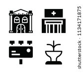 filled buildings icon set such... | Shutterstock .eps vector #1134171875