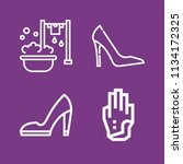outline fashion icon set such... | Shutterstock .eps vector #1134172325