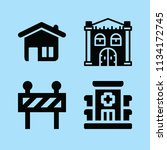 filled buildings icon set such... | Shutterstock .eps vector #1134172745