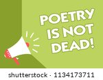 word writing text poetry is not ... | Shutterstock . vector #1134173711