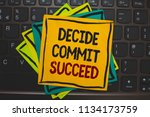 word writing text decide commit ... | Shutterstock . vector #1134173759