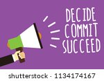 word writing text decide commit ... | Shutterstock . vector #1134174167