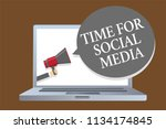 text sign showing time for... | Shutterstock . vector #1134174845