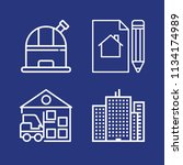 outline buildings icon set such ... | Shutterstock .eps vector #1134174989