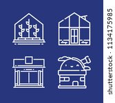 outline buildings icon set such ... | Shutterstock .eps vector #1134175985