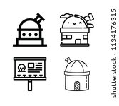 outline buildings icon set such ... | Shutterstock .eps vector #1134176315