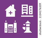 filled buildings icon set such... | Shutterstock .eps vector #1134176339