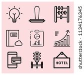 outline business icon set such... | Shutterstock .eps vector #1134176345