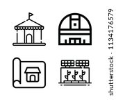 outline buildings icon set such ... | Shutterstock .eps vector #1134176579