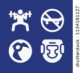 filled sports icon set such as...   Shutterstock .eps vector #1134181127