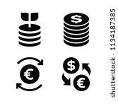 filled money icon set such as... | Shutterstock .eps vector #1134187385