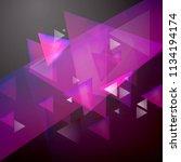 pink grey geometry background. | Shutterstock .eps vector #1134194174