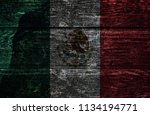 wood mexico flag   Shutterstock . vector #1134194771